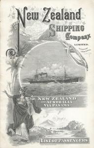 Rimutaka 1925 Passenger List cover